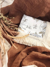 Load image into Gallery viewer, Antique Floral Cotton Wrap with Fringe
