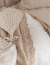 Load image into Gallery viewer, Heirloom Knit Blanket | Caramel Fleck