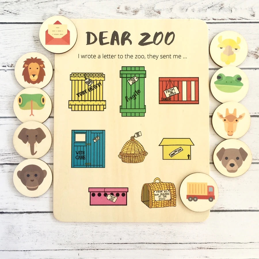 Dear Zoo- Activity Board and Discs