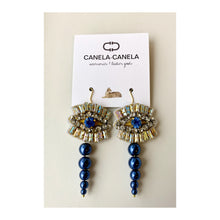 Load image into Gallery viewer, Crystal evil eye earrings
