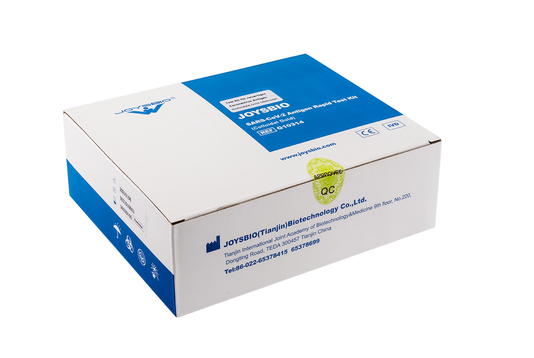 Joysbio SARS-CoV-2 Antigen Rapid Test Kit (Colloidal Gold) - Speicheltest