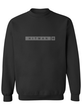 Load image into Gallery viewer, Heavy Blend Crewneck Sweatshirt - Hitman 3 White on Gray