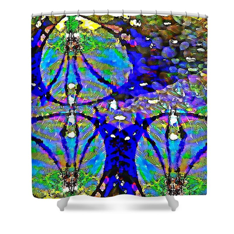 Drifting Opalescence - Shower Curtain