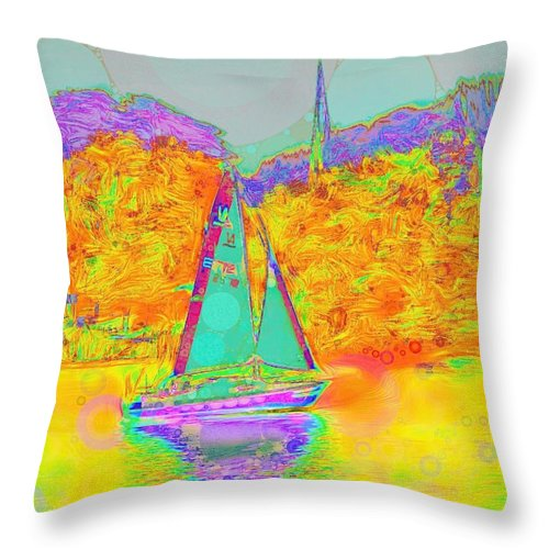 Summer Sail - Throw Pillow