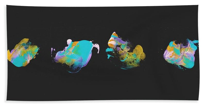 Teal Jellyfish Quartet - Beach Towel