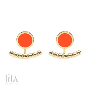 Boucles Doreilles Comètes Tangerine By Bangle Up Bijoux