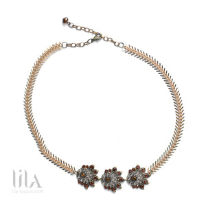 Headband Evy Marron By Lila Bijoux