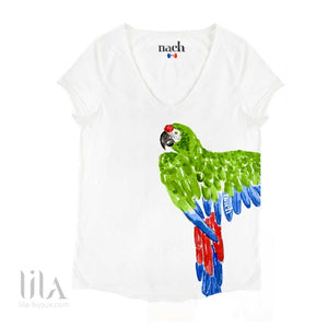 T-Shirt Perroquet Vert Adulte By Nach Vêtements
