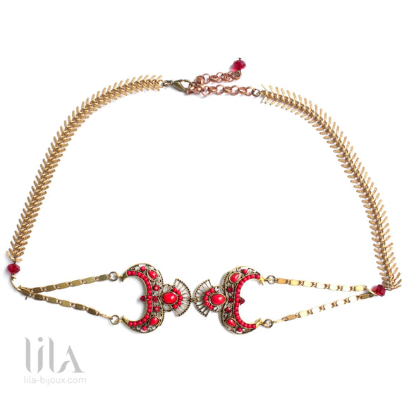 Headband Sophia Rouge By Lila Bijoux