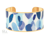 Manchette Eden Kaki By Bangle Up Bleu Majorelle Bijoux