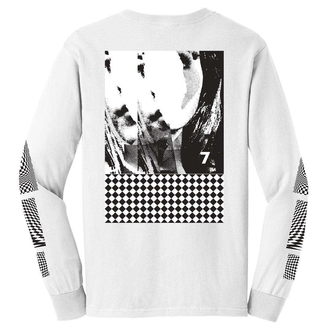 7 Op Art White Long Sleeve