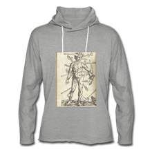 Load image into Gallery viewer, Ouch. Unisex Lightweight Hoodie - heather gray