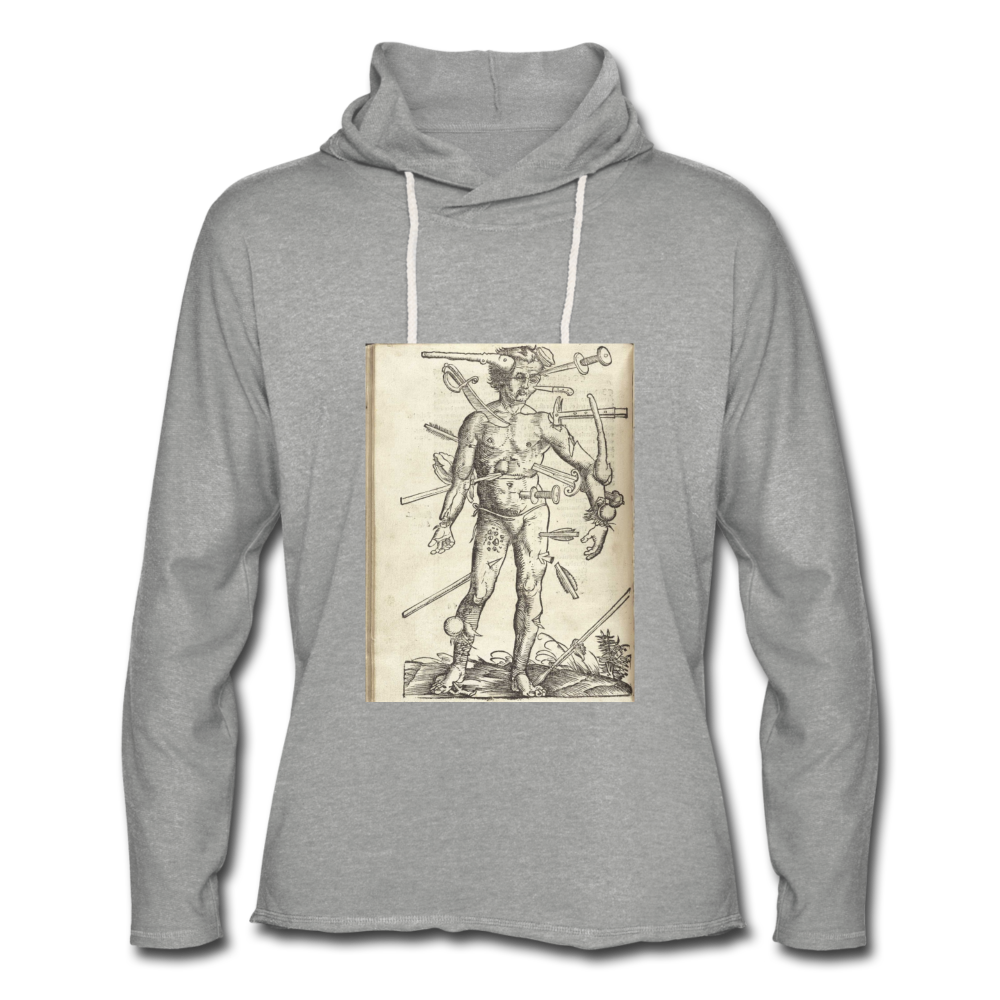 Ouch. Unisex Lightweight Hoodie - heather gray