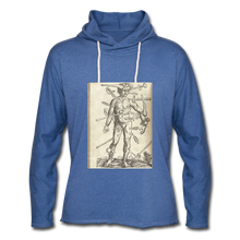 Load image into Gallery viewer, Ouch. Unisex Lightweight Hoodie - heather Blue