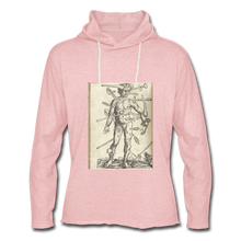 Load image into Gallery viewer, Ouch. Unisex Lightweight Hoodie - cream heather pink