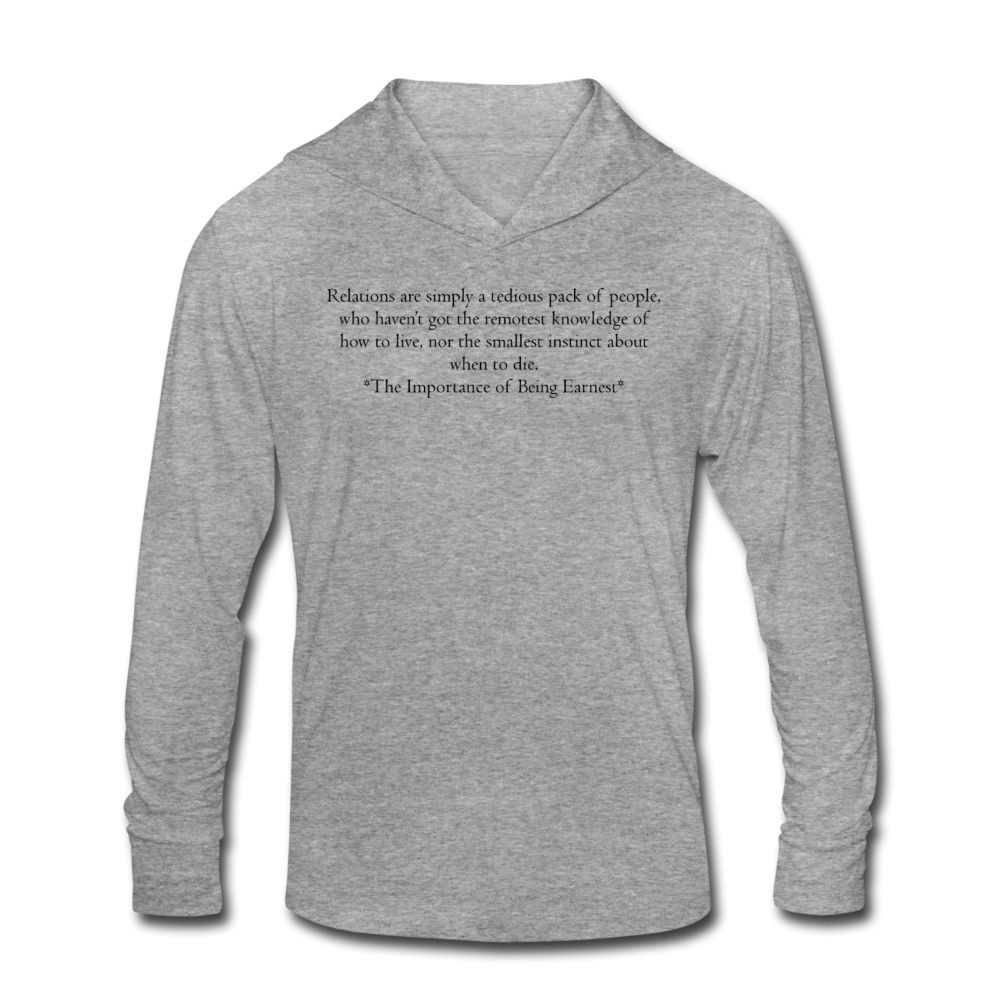 Relations, Unisex Tri-Blend Hoodie Shirt - heather gray