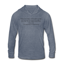 Load image into Gallery viewer, Relations, Unisex Tri-Blend Hoodie Shirt - heather blue