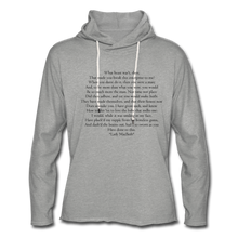 Load image into Gallery viewer, Lady Mac, Unisex Lightweight Terry Hoodie - heather gray