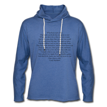 Load image into Gallery viewer, Lady Mac, Unisex Lightweight Terry Hoodie - heather Blue