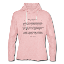 Load image into Gallery viewer, Lady Mac, Unisex Lightweight Terry Hoodie - cream heather pink