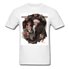 Load image into Gallery viewer, Playing Santa, Men's T-Shirt - white