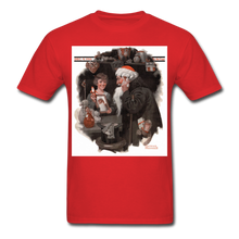 Load image into Gallery viewer, Playing Santa, Men's T-Shirt - red