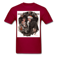 Load image into Gallery viewer, Playing Santa, Men's T-Shirt - dark red
