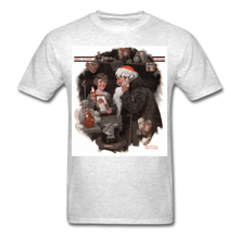 Load image into Gallery viewer, Playing Santa, Men's T-Shirt - light heather gray