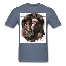 Load image into Gallery viewer, Playing Santa, Men's T-Shirt - denim