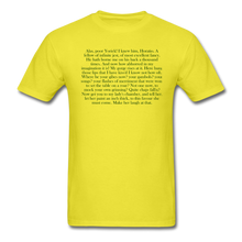 Load image into Gallery viewer, Alas, Poor Yorick. Unisex Classic T-Shirt - yellow