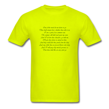 Load image into Gallery viewer, Titania, Unisex T-Shirt - safety green