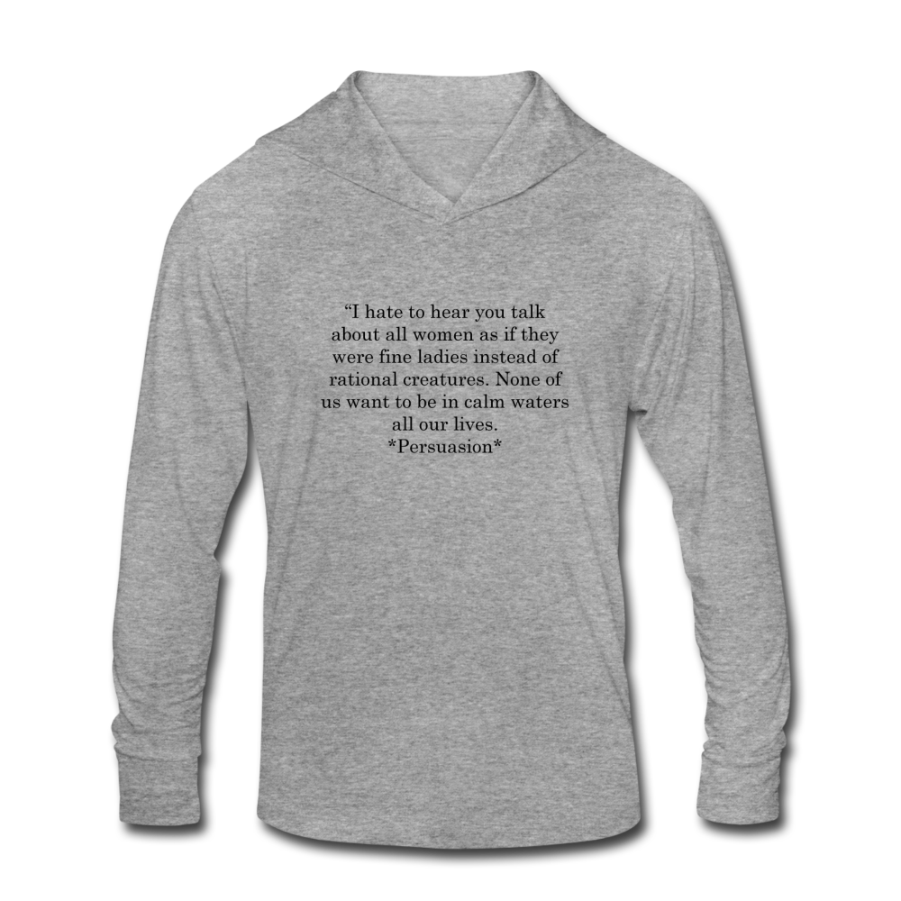 Rational Women, Unisex Tri-Blend Hoodie Shirt - heather gray