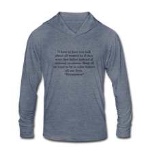 Load image into Gallery viewer, Rational Women, Unisex Tri-Blend Hoodie Shirt - heather blue