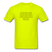 Load image into Gallery viewer, Rational Women, Unisex Classic T-Shirt - safety green