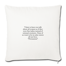 "Load image into Gallery viewer, Rational Women, Throw Pillow Cover 18"" x 18"" - natural white"