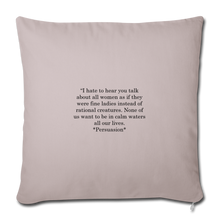 "Load image into Gallery viewer, Rational Women, Throw Pillow Cover 18"" x 18"" - light taupe"