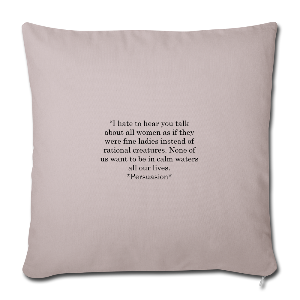 "Rational Women, Throw Pillow Cover 18"" x 18"" - light taupe"
