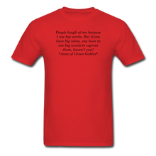 Load image into Gallery viewer, Use Big Words, Unisex T-Shirt - red