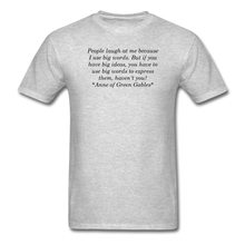 Load image into Gallery viewer, Use Big Words, Unisex T-Shirt - heather gray
