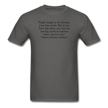 Load image into Gallery viewer, Use Big Words, Unisex T-Shirt - charcoal