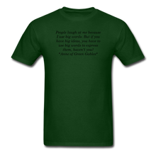 Load image into Gallery viewer, Use Big Words, Unisex T-Shirt - forest green