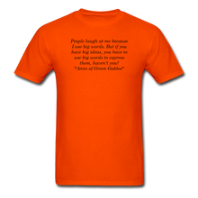 Load image into Gallery viewer, Use Big Words, Unisex T-Shirt - orange