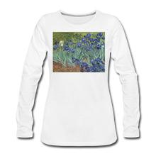 Load image into Gallery viewer, Irises, Women's Premium Slim Fit Long Sleeve T-Shirt - white