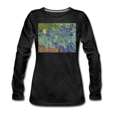 Load image into Gallery viewer, Irises, Women's Premium Slim Fit Long Sleeve T-Shirt - charcoal gray