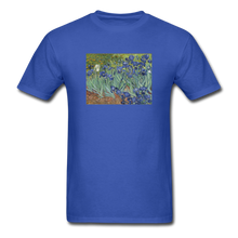 Load image into Gallery viewer, Irises, Unisex Classic T-Shirt - royal blue