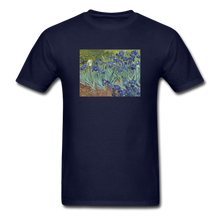 Load image into Gallery viewer, Irises, Unisex Classic T-Shirt - navy