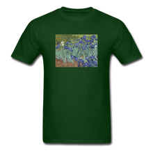 Load image into Gallery viewer, Irises, Unisex Classic T-Shirt - forest green