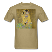 Load image into Gallery viewer, Klimt's The Kiss, Unisex Classic T-Shirt - khaki