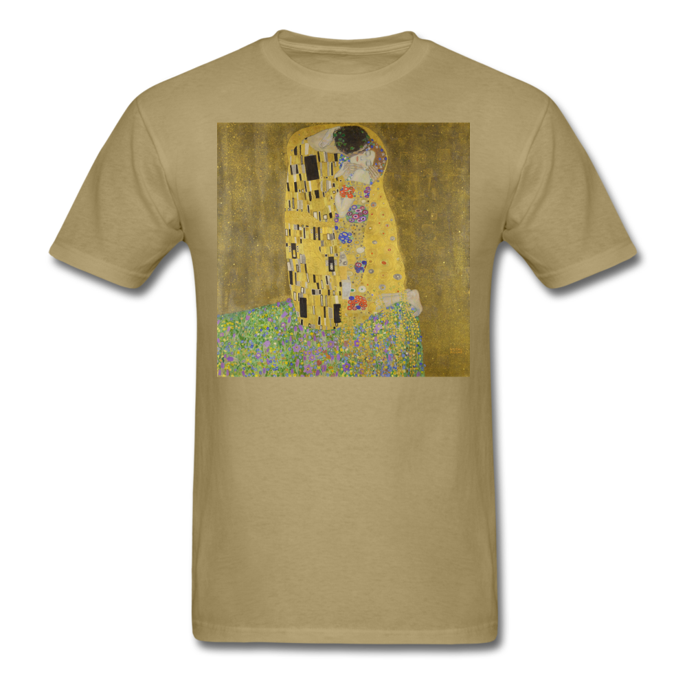 Klimt's The Kiss, Unisex Classic T-Shirt - khaki