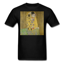 Load image into Gallery viewer, Klimt's The Kiss, Unisex Classic T-Shirt - black